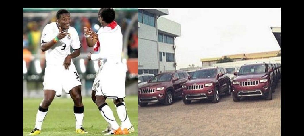 Photo de Les black stars du Ghana reçoivent des Jeep Cherokee de leur président