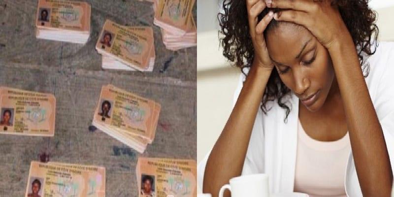 Photo de Côte d'ivoire : une dame a été arrêtée possédant des milliers de pièces d'identité