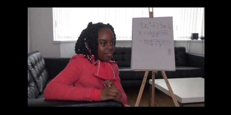 Photo de Royaume-Uni/Incroyable : âgée de10 ans, elle est déjà en licence de mathématiques