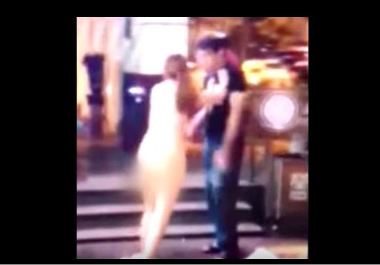 Photo de Une chinoise se dénude en public après le refus de son copain de lui acheter un Iphone 6s: PHOTO