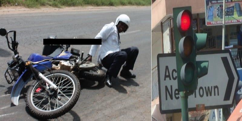 Photo de Ghana: Un policier renversé par un véhicule, après avoir violé un «feu rouge» (témoins)