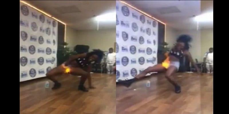 Photo de Voulant impressionner le jury, elle met du feu sur sa partie intime: VIDÉO
