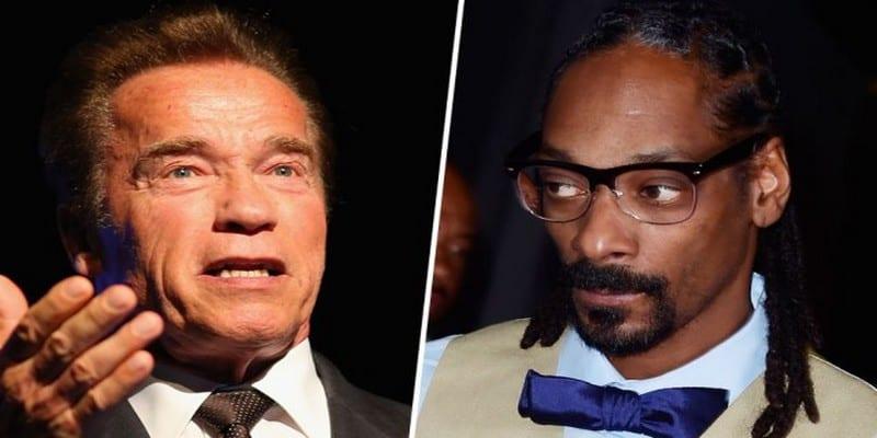 Photo de Snoop Dogg insulte violemment et menace Arnold Schwarzenegger, la raison !