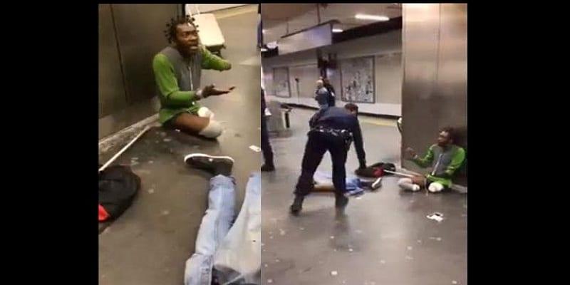 Photo de Voici comment 3 policiers ont humilié un homme noir handicapé à Paris: VIDÉO