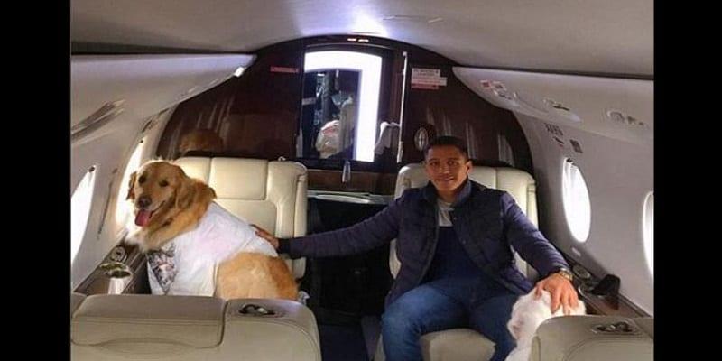 Photo de Arsenal: Alexis Sanchez en Jet privé avec ses chiens (photo)