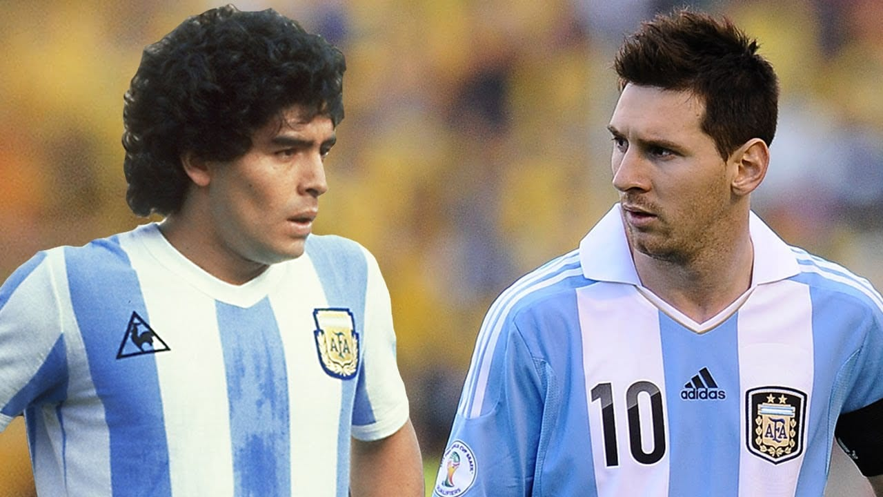 Photo de Messi répond à Maradona