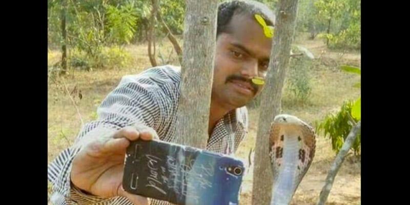 Photo de Prendre un selfie avec ce serpent était une mauvaise idée… (video)