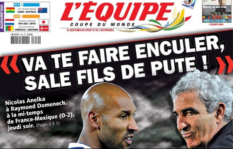 Photo de Les pires déclarations d'Anelka contre l'Equipe de France