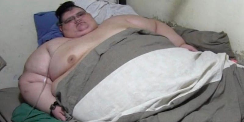 Photo de L'homme le plus gros du monde voudrait perdre 300 kilos…Vidéo