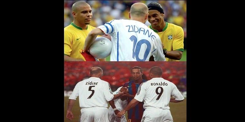 Photo de Zidane , Ronaldo et Ronadinho des joueurs de talent exceptionnel…Explications