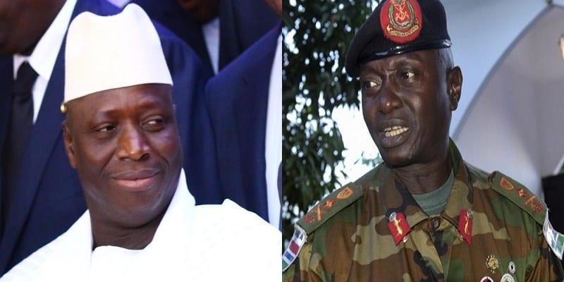 Photo de Gambie: Le général Ousman Badjie affirme son soutien à Yahya Jammeh
