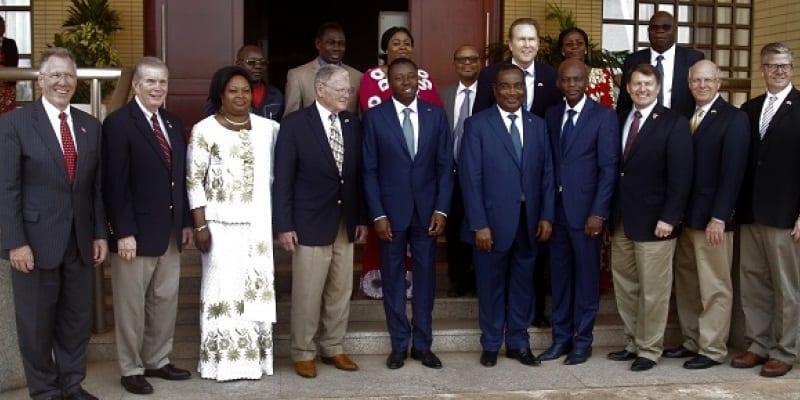 photo de famille de la délégation et la partie togolaise