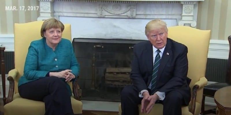 Photo de USA: Trump refuse de serrer la main à Angela Merkel. Vidéo