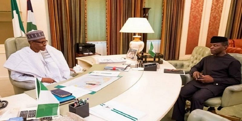 M Buhari et son vice