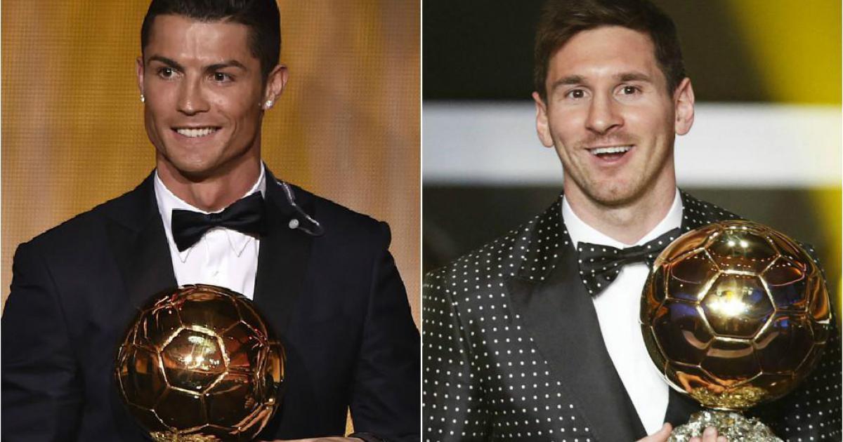 Photo de Messi gagne un point pour la course au Ballon d'Or devant Ronaldo