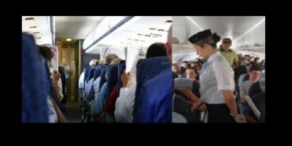 Photo de Une blanche refuse de s'asseoir à côté d'un passager noir dans l'avion.  La surprenante réaction de l'hôtesse!