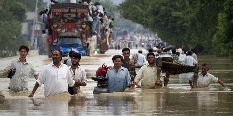 Photo de L'Inde et le Pakistan victimes de graves inondations
