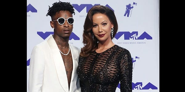 Photo de Amber Rose et 21 Savage, très amoureux aux MTV Video Music 2017…photos