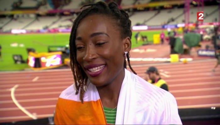 Photo de Mondiaux d'athlétisme-100m Dames: Ta Lou Marie Josée remporte la médaille d'argent !