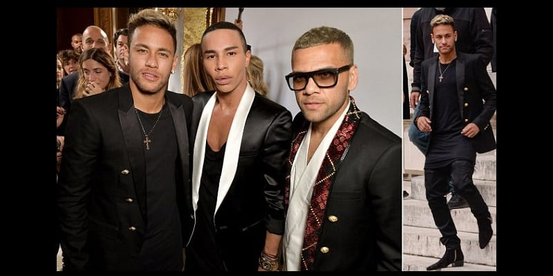 Photo de Quand Neymar et Dani Alves s'amusent à défiler à la Fashion week parisienne…photos