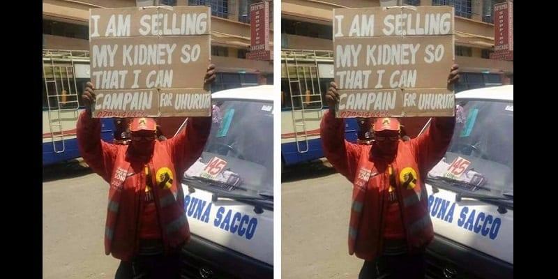 Photo de Kenya: il met son rein en vente pour battre campagne pour Uhuru Kenyatta (photo)
