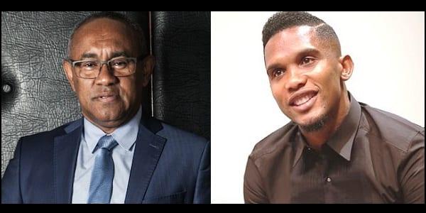 """Photo de Sports: Le président de la CAF """"remercie sincèrement Samuel Eto'o"""" Explications"""