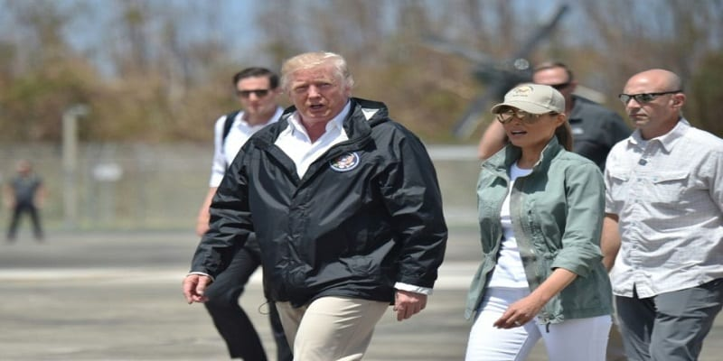 Photo de Ouragan Maria: Donald Trump choque la toile par son message