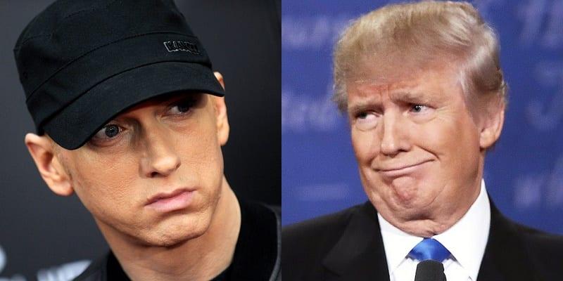 Photo de Eminem s'attaque violemment à Donald Trump dans son nouveau clip (Vidéo)