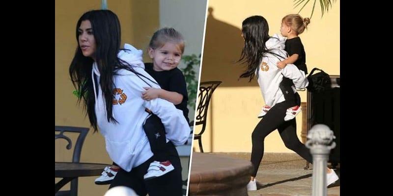 Photo de Quand Kourtney Kardashian accomplit son rôle de maman