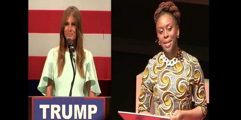 Photo de Chimamanda Ngozi : « Melania Trump est seule et obsédée par Michelle Obama »