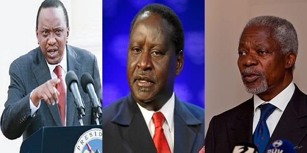 Photo de Kenya: Uhuru Kenyatta s'en prend à Raila Odinga et Kofi Annan