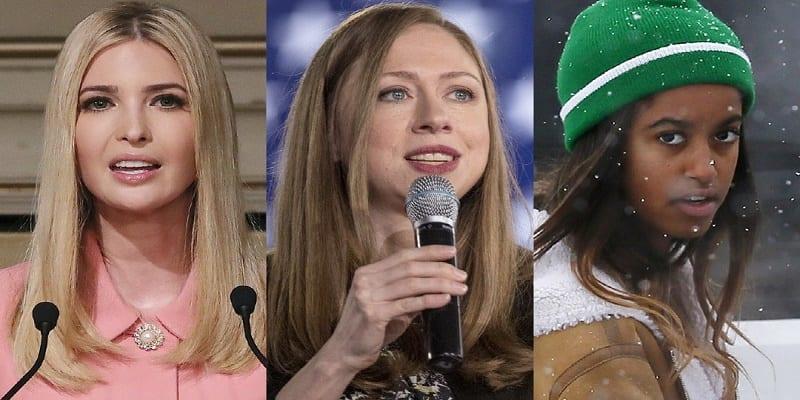 Photo de Ivanka Trump et Chelsea Clinton apportent leur soutien à Malia Obama