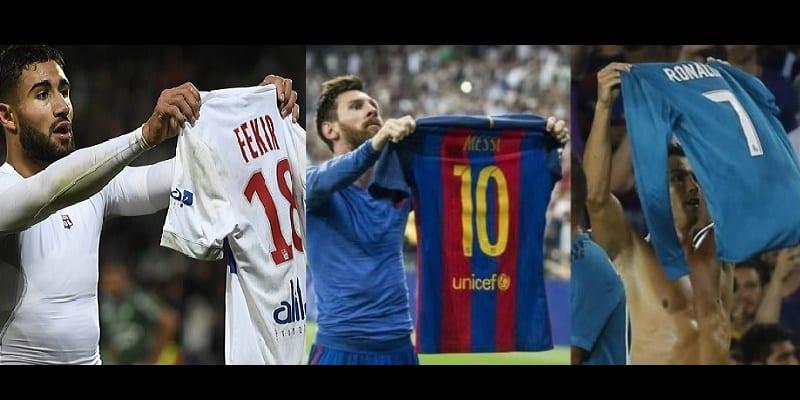 Photo de Football: Nabil Fekir critiqué pour ce geste où il imite Ronaldo et Messi