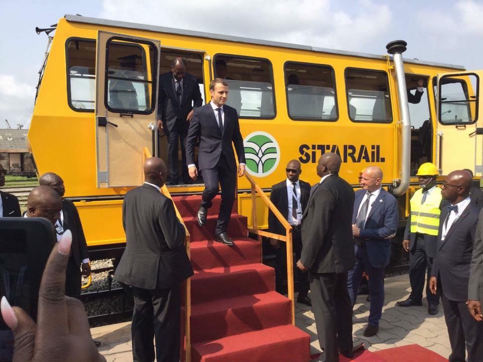 Photo de Côte d'Ivoire : Emmanuel Macron donne le top départ au métro d'Abidjan