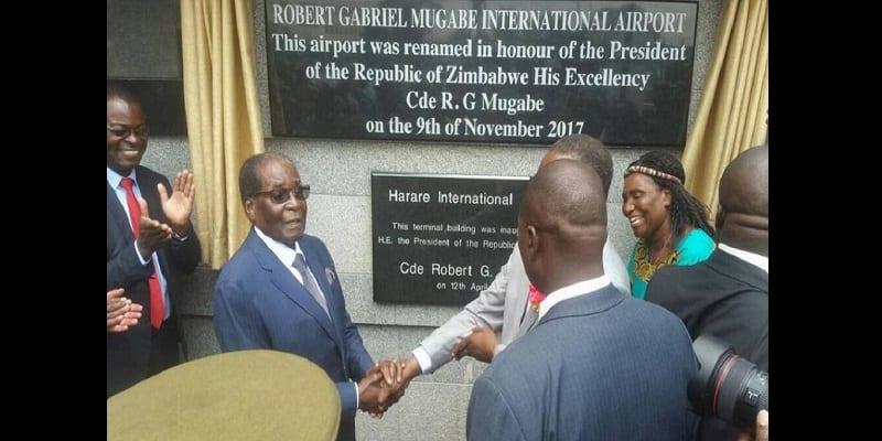 Photo de Zimbabwe: l'aéroport d'Harare change de nom et devient aéroport international Robert Mugabe