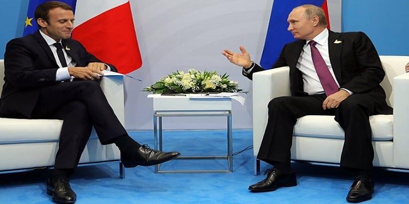 Photo de Russie : Vladimir Poutine adresse ses vœux à Macron et l'invite à Moscou