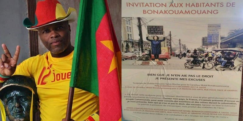 Photo de Cameroun: la sculpture d'une artiste française détruite à Douala
