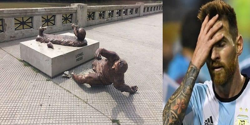 Photo de Argentine: La statue de Lionel Messi vandalisée à nouveau