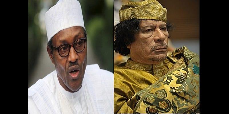 Photo de Nigeria: Muhammadu Buhari accuse Mouammar Khadafi