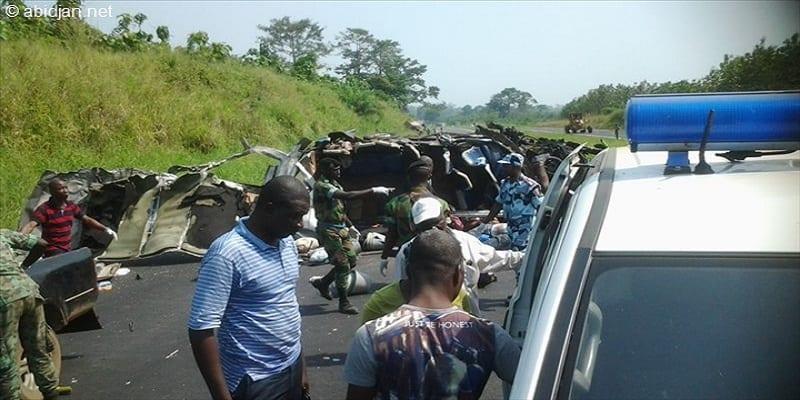 Photo de Côte d'Ivoire: Un accident fait plusieurs morts et blessés