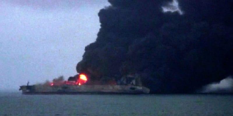 Photo de Catastrophe en mer de Chine: Le pétrolier risque d'exploser