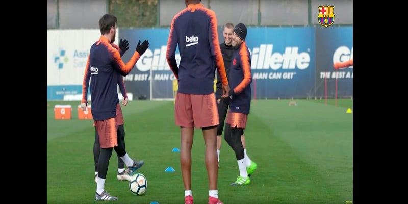 Photo de Barcelone: Messi applaudit Dembele pour sa brillante performance à l'entraînement (vidéo)