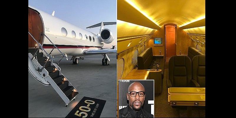 Photo de People: Floyd Mayweather s'offre un jet privé de luxe pour son anniversaire (photos)
