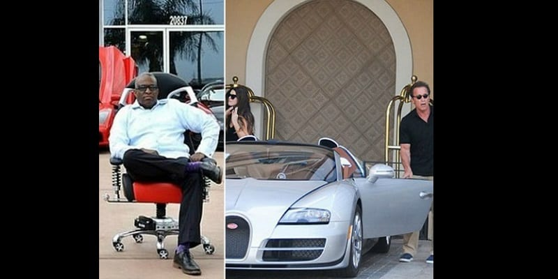 Photo de Un Nigérian achète la Bugatti d'Arnold Schwarzenegger