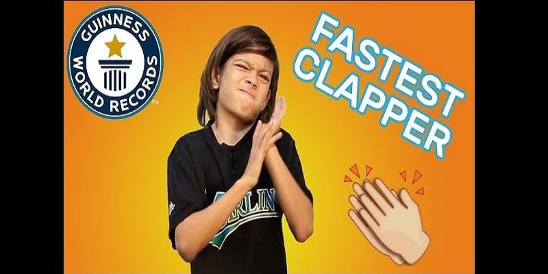Photo de Guinness des records: Un gamin de 9 ans applaudit 1080 fois en 1 minute (vidéo)