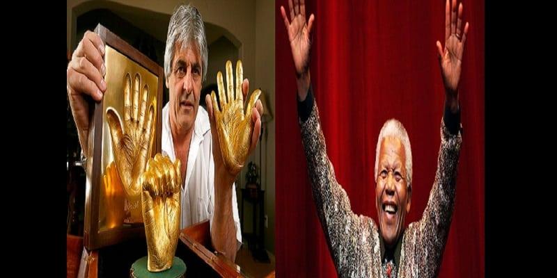 Photo de Afrique du Sud: Les empreintes en or de Nelson Mandela vendues à un prix incroyable! (photos)