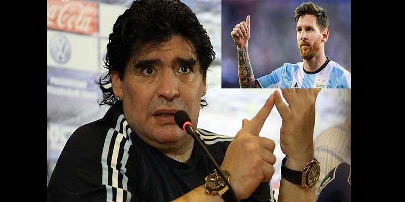 Photo de Mondial 2018: Maradona donne un précieux conseil à Lionel Messi