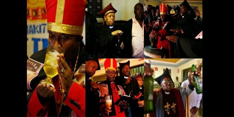 Photo de Afrique du Sud/Gabola: L'église où l'alcool est utilisé pour le culte et le baptême (photos)