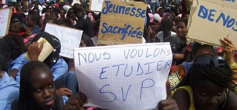 Photo de Sénégal: L'inter-cadre des enseignants en grève totale de 3 jours