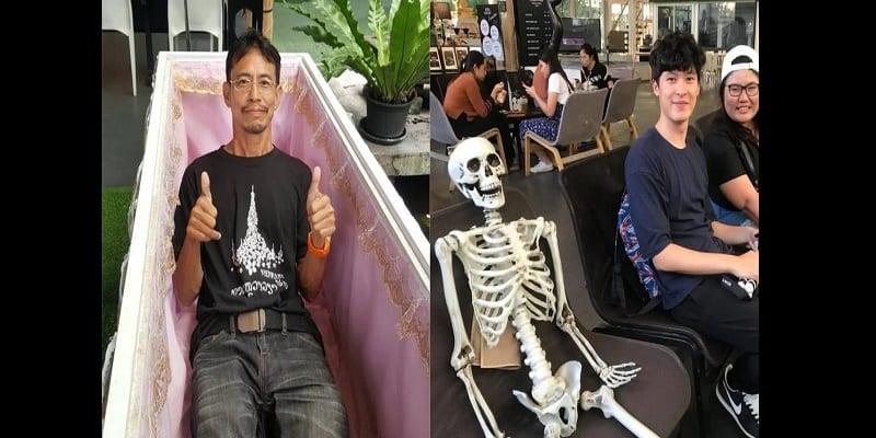 Photo de Bangkok: Découvrez le «café de la mort» où les clients s'enferment dans un cercueil (vidéo)